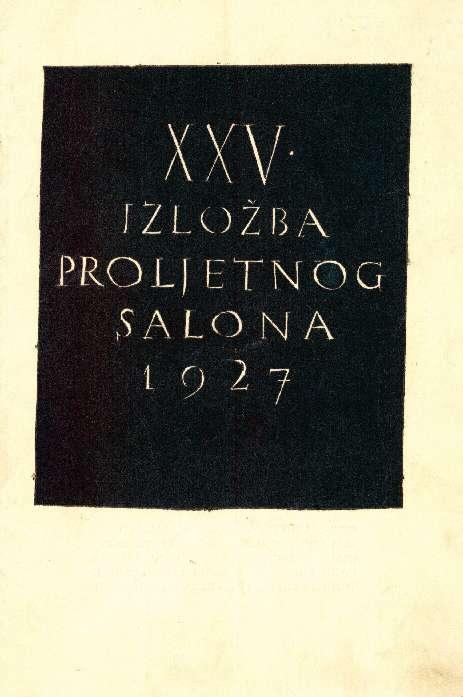 XXV. izložba Proljetnog salona 1927