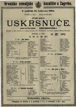 Uskrsnuće drama u pet činova iz ruskog života / po Tolstojevu romanu napisao Henry Bataille  =  Résurection
