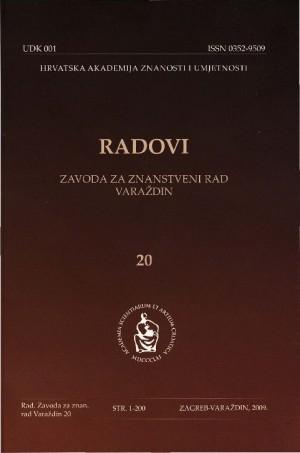 Knj. 20 (2009) : Radovi Zavoda za znanstveni rad Varaždin