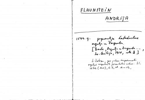 Flaunstein Andrija