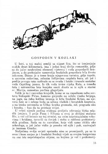 Gospodin v Kožlaki : Bulletin Odjela VII. za likovne umjetnosti Jugoslavenske akademije znanosti i umjetnosti