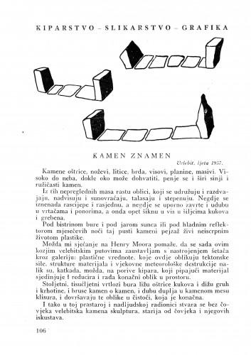Kamen znamen : Bulletin Instituta za likovne umjetnosti Jugoslavenske akademije znanosti i umjetnosti