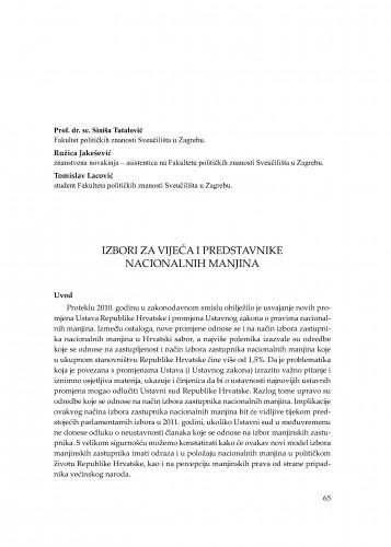 Izbori za vijeća i predstavnike nacionalnih manjina : [uvodno izlaganje] : Modernizacija prava