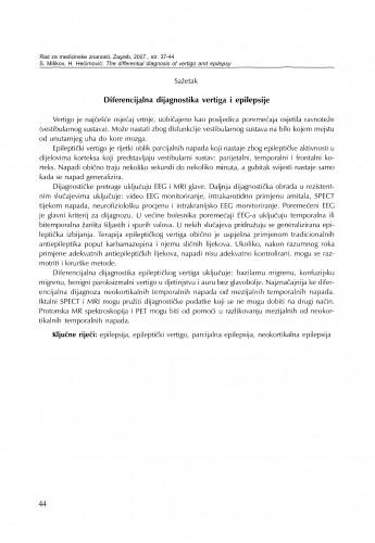 Electrophysiological methods in the diagnostics of vertigo