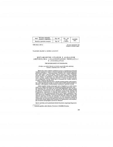 Metamorfne stijene s alkalnim amfibolima (