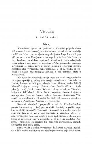 Vivodina / R. Strohal