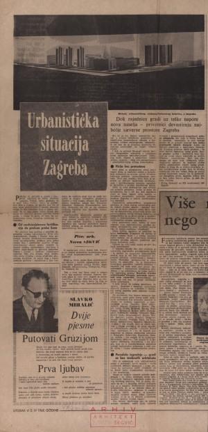 Urbanistička situacija Zagreba : Vjesnik