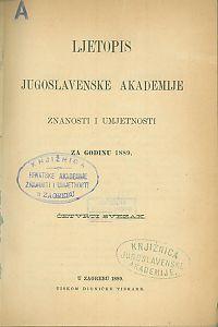 Za godinu 1889. Sv. 4 : Ljetopis