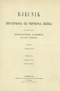 Sv. 32 : nakon-naravan : Rječnik hrvatskoga ili srpskoga jezika