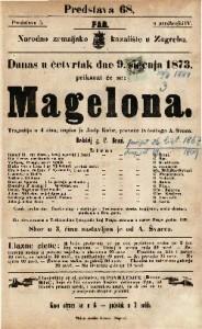 Magelona Tragedija u 4 čina / napisao ju Josip Kolar