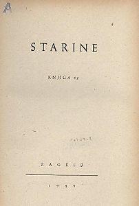 Knj. 42(1949) : Starine