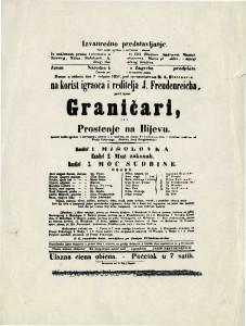 Graničari ili Proštenje na Ilijevu : Izvorni pučki igrokaz s pjevanjem i plesom u 3 razdiela
