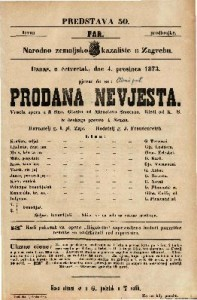 Prodana nevjesta Vesela opera u 3 čina / Glasba od Miroslava Smetane. Rieči od K. S.