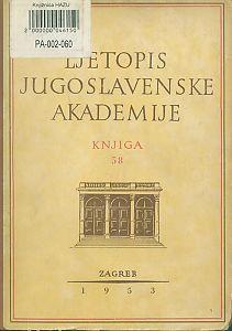 Za godine 1951-1952. Knj. 58 : Ljetopis