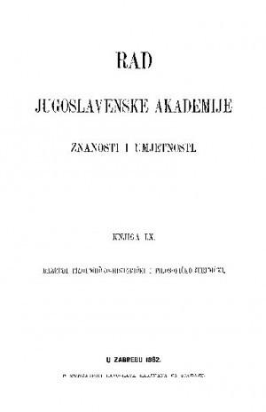 Knj. [1](1882) : RAD