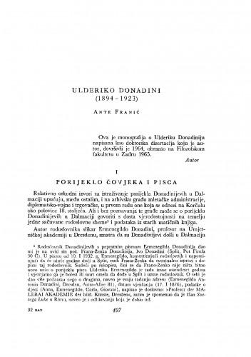 Ulderiko Donadini (1894-1923)