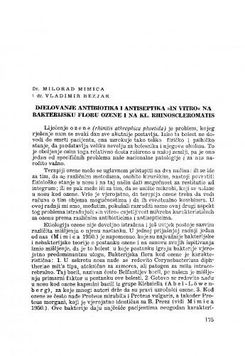 Djelovanje antibiotika i antiseptika