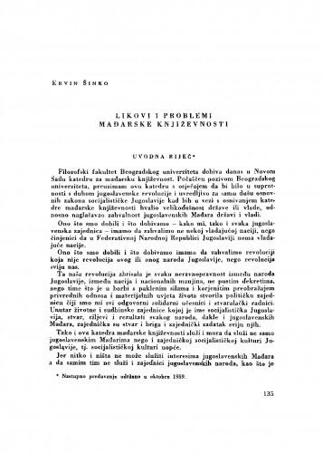 Likovi i problemi mađarske književnosti