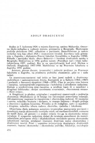 Adolf Dragičević : [biografije novih članova Akademije]