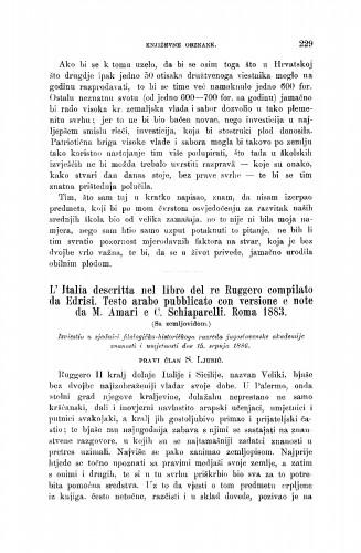 L' Italia descritta nel libro del re Ruggero compilato da Edrisi. Testo arabo pubblicato con versione e note da M. Amari e C. Schiaparelli. Roma 1883