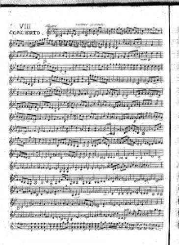 VIII concerto : violino secondo