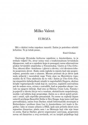 Euroza : [ulomak iz romana Umjetna suze] : Forum : mjesečnik Razreda za književnost Hrvatske akademije znanosti i umjetnosti.