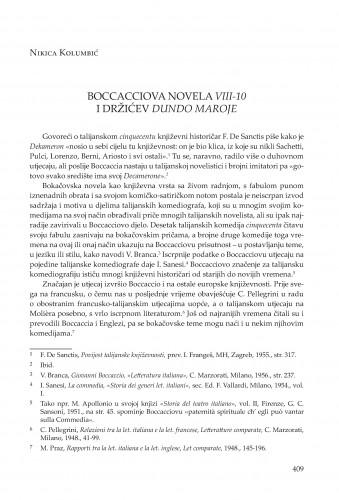 Boccacciova novela VIII-10 i Držićev Dundo Maroje