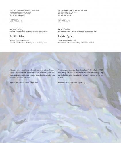 Đuro Seder: Pariški ciklus : Art Bulletin