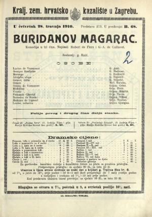 Buridanov magarac : Komedija u tri čina