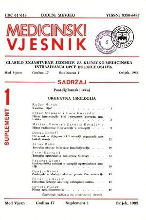 God. 17, suplement 1(1985) : Medicinski vjesnik