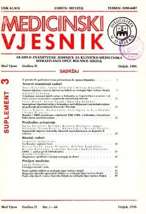 God. 21, suplement 3(1989) : Medicinski vjesnik