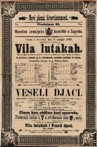 Vila lutakah ; Veseli djaci Pantomimički plesni deviertissement u 1 činu ; Šaljiva opereta u 1 činu / glasba od I. Bayer-a