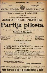 Partija piketa vesela igra u 1 ćinu / francezki napisao Fournier i Meyer,