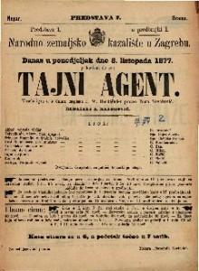 Tajni agent vesela igra u 5 činah / napisao F. W: Hackländer