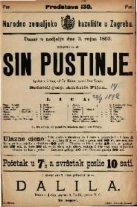 Sin pustinje Igrokaz u 5 čina / od Fr. Halma