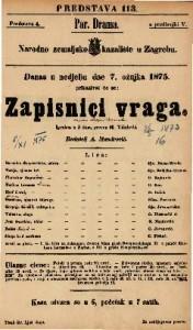 Zapisnici vraga Igrokaz u 3 čina / preveo M. Vidulović