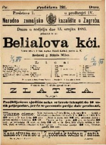 Belialova kći Vesela igra u 5 čina / napisao Rudolf Kneisel