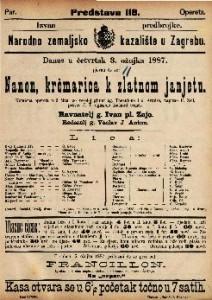Nanon, krčmarica k zlatnom janjetu Komična opereta u 3 čina / uglasbio Richard Genée
