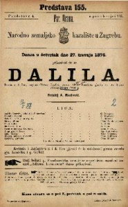 Dalila drama u 4 čina / napiao Oktave Feuillet