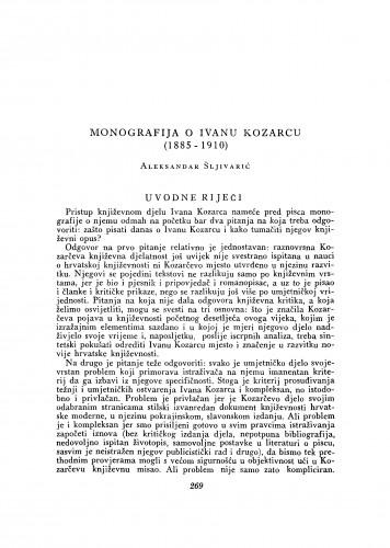 Monografija o Ivanu Kozarcu (1885-1910)