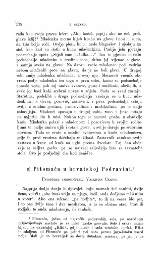 Pitomača u hrvatskoj Podravini : ženidbeni običaji : Zbornik za narodni život i običaje