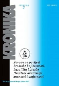 N. t. god. 15, br. 30(2013) : Kronika Zavoda za povijest hrvatske književnosti, kazališta i glazbe HAZU