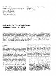 Organizacijska klima trgovačkih društava grada Varaždina