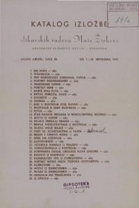 Katalog izložbe slikarskih radova Maše Živkove