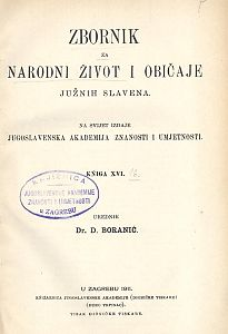 Knj. 16. (1911) : Zbornik za narodni život i običaje