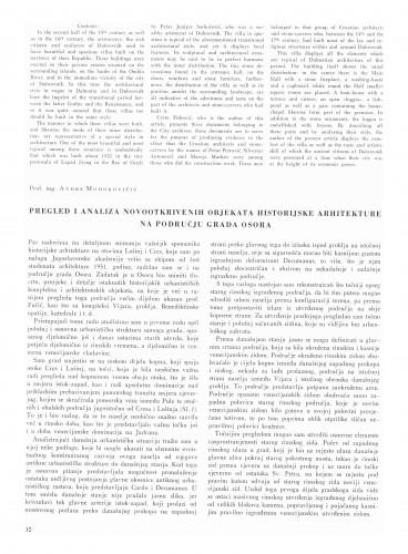 Pregled i analiza novootkrivenih objekata historijske arhitekture na području grada Osora : Bulletin Instituta za likovne umjetnosti Jugoslavenske akademije znanosti i umjetnosti