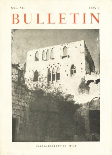 God. 12(1964), Br. 3 : Bulletin Zavoda za likovne umjetnosti Jugoslavenske akademije znanosti i umjetnosti