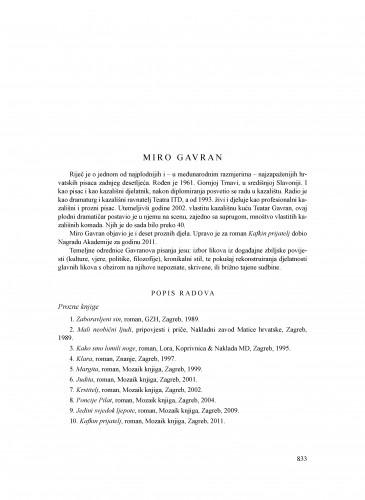 Miro Gavran : Ljetopis
