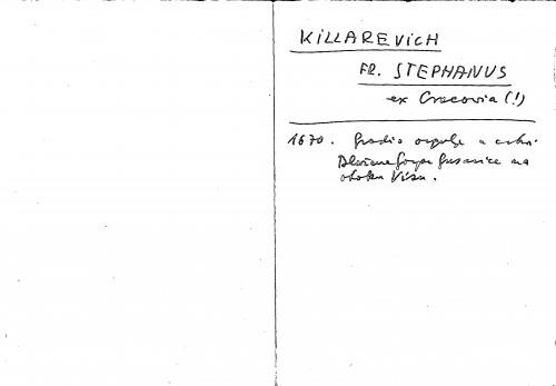 Killarevich Fr. Stephanus ex Cracovia