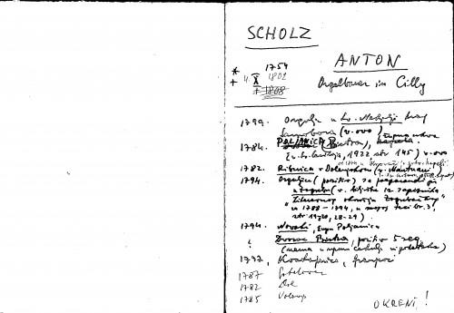 Scholz Anton Orgelbauer in Cilly